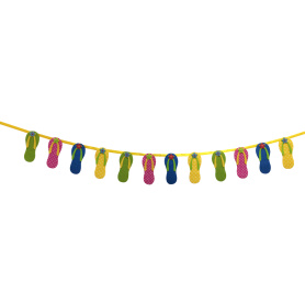Hawaii Summer themed birthday party bunting banner