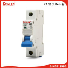 DZ47 TYPE Mini circuit breaker silver contact 6KA capacity MCB with CE CB SEMKO SIRIM IEC/EN60898-1