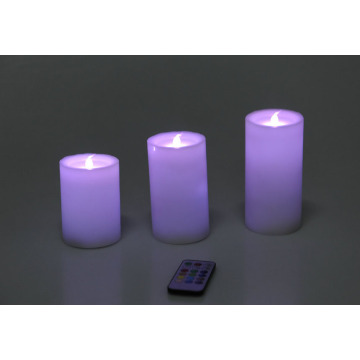 Battery Operated Ivory Real Wax Pillar LED Candles