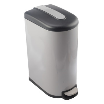 Household Metal Pedal Bin with Plastic Bucket