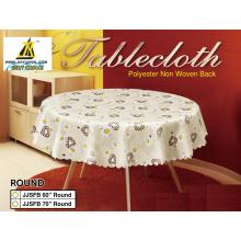 Pvc Tablecloth with Scallop Edge