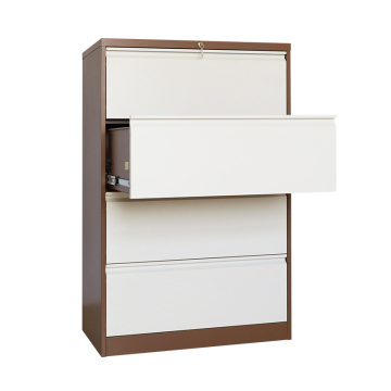 Lateral steel 4 drawer file cabinet