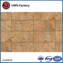 Yellow sandstone tiles wall for outdoors