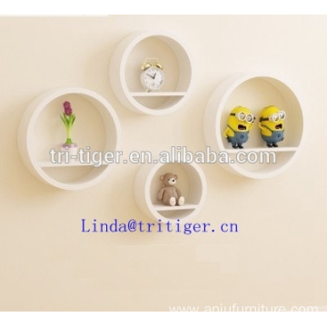 Set of 4 Pieces Flexible Round Wall ledge Shelves