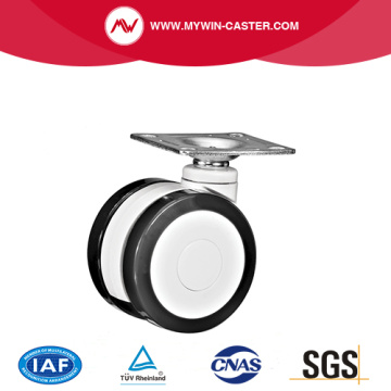 Plate Twin Wheels Medica Caster