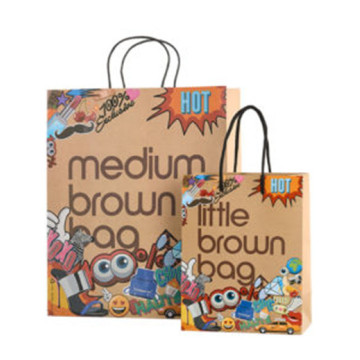 Colorful kraft shopping bags