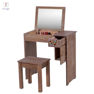 Wood dressing table mirror bedroom beauty dresser designs