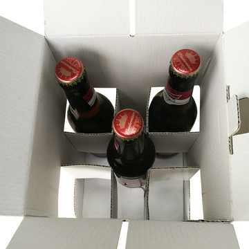 Custom 4 Pack Beer Box with Handle