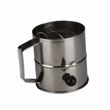 Stainless Steel Flour Sifter With Rotate Handle