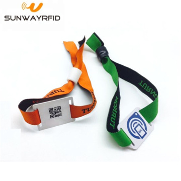 Disposable RFID Wristband NTAG203 / 213 Chip