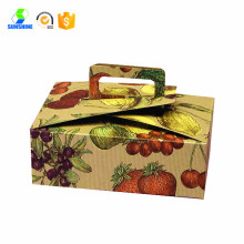 Handle Cake Box with Printing