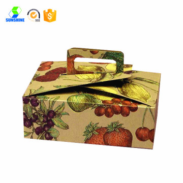 window design cake boxes with handle