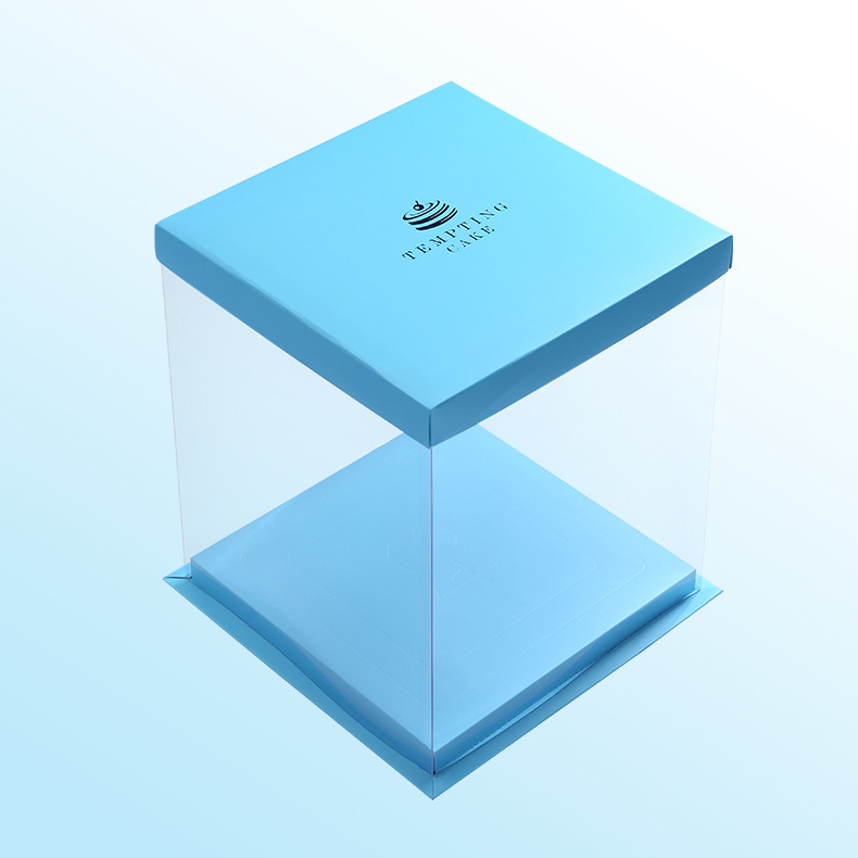 Plastic clear cake box design