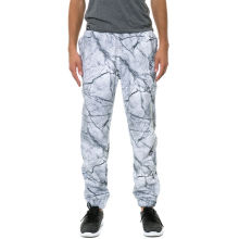 Custom printed block french terry mens sweatpants
