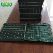 Military sand wall hesco  barriers