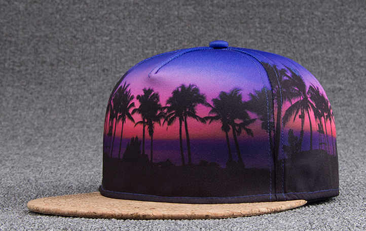 Trees Sublimation Printing Hip Hop Cap