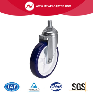 Medium 6 Inch 130Kg Threaded Swive TPU Caster