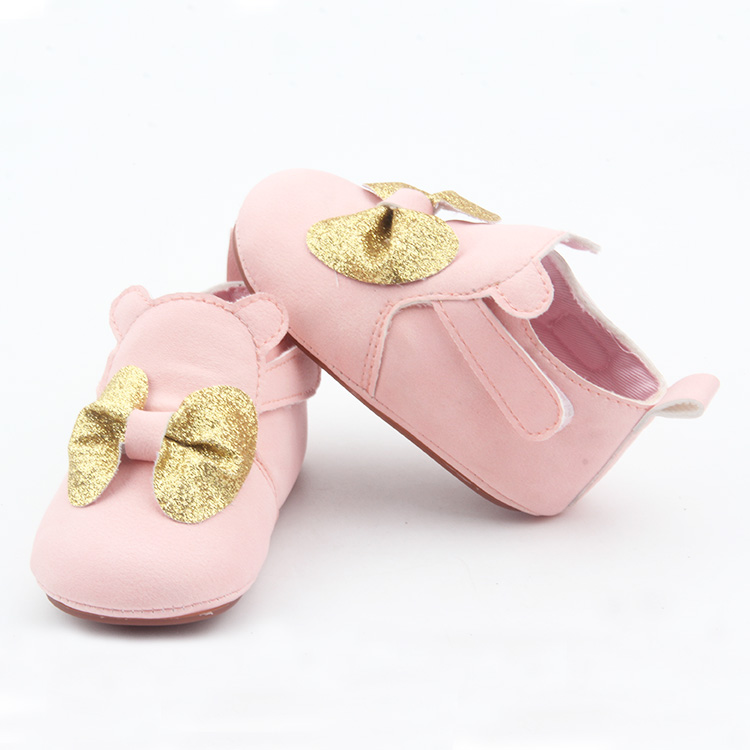 Pink Cute Bowknot Baby Casual Shoes