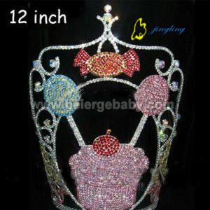 12inch large candy cupcake pageant crown