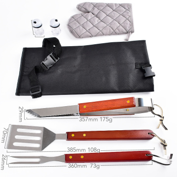 ABS handle stainless steel bbq tools set 4pcs