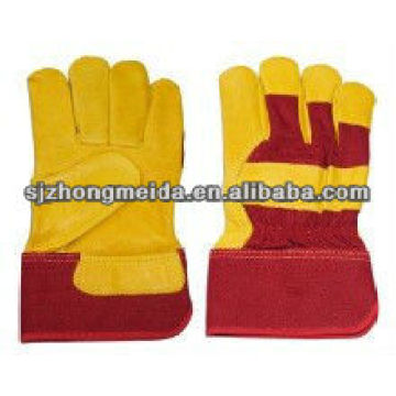 split leather work gloves