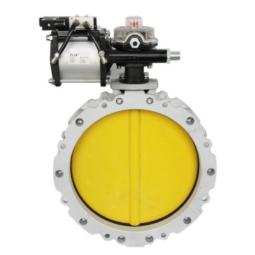 Flange Pneumatic Cement Butterfly Valve