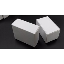 Simple Design White Color Earring Gift Paper Box