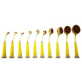10st Oval Makeup Brush Set