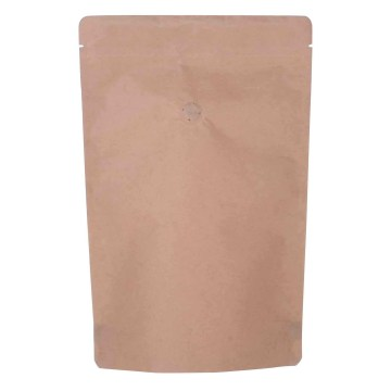 Recycled Kraft Paper Stand Up Pouch with Zipper