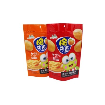 Customized Printed Stand-up Chips Packaging Bag with Window