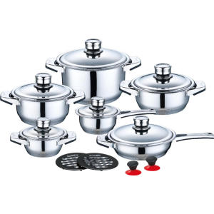 Customized Supplier for Ceramic Cookware Sets 16 Pieces Stainless Steel Cookware in Factory Price export to France Factories