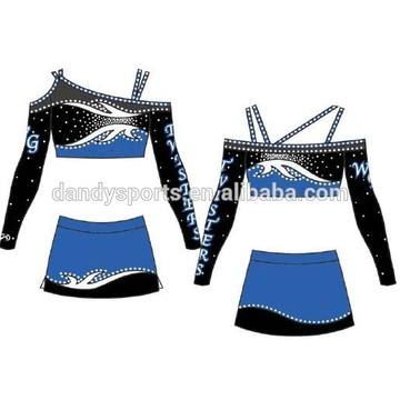 Custom Off Shoulder Cheer Uniform For Youth