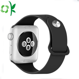 Simple Style Silicone Waterproof Watch Band Watchstrap