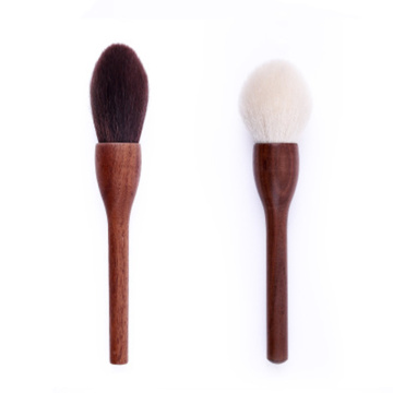 Single portable brush goat hair foundation powder brush