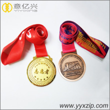 3D zinc alloy custom sports marathon running medals