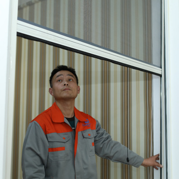 Retractable window with aluminum frame 0931