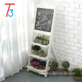 wooden flower stand blackboard with 3 display shelves