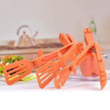 Kitchen Gadget BBQ Gril Tools Plastic food tongs