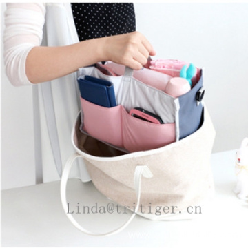 Travel cosmetic organizer/baby mother storage bag in bag