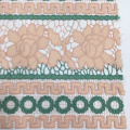 Elegant Geometry And Flower Chemical Lace Embroidery Fabric