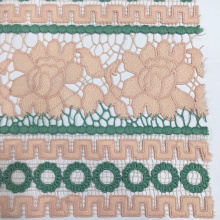 PriceList for for 3D Poly Guipure Embroidery Fabric Elegant Geometry And Flower Design Chemical Lace Embroidery export to Iran (Islamic Republic of) Factory