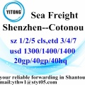 Shenzhen Sea Freight Shipping Agent to Cotonou