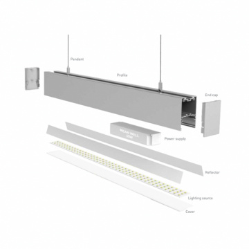 42w Aluminum Panel LED Linear Lighting