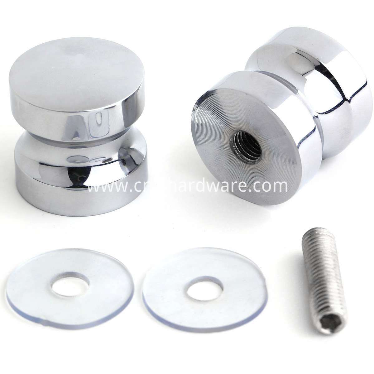 Brass material Chrome plated shower door knob