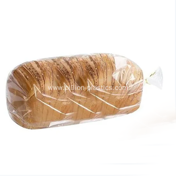 Clear Bread Loaf Flat Plastic Bag