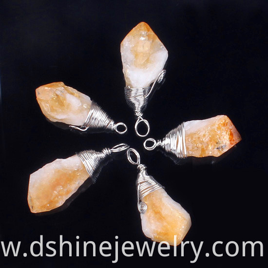 Natural Stone Quartz Crystal Pendant