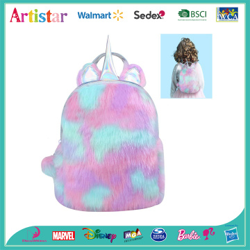 Unicorn plush colorful backpack
