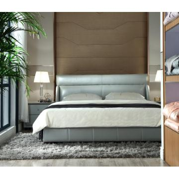 Leading for Genuine Leather Soft Bed Simple Style Leather Soft Bed export to Germany Exporter
