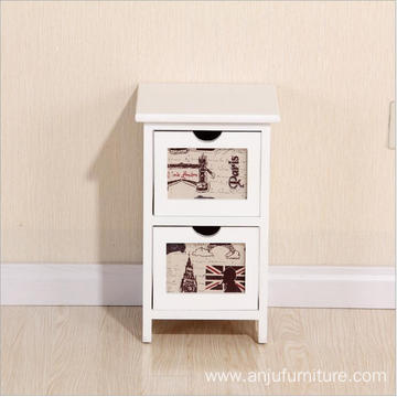 Home Antique 2 layers Storage Nightstands