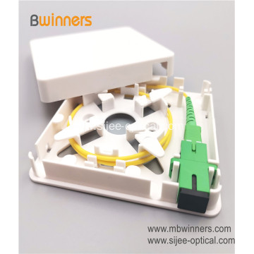 1 Core Fiber Wall Socket Panel Fiber Optical FTTH Termination Box